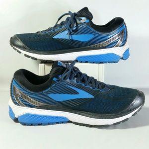 bec7521b200 Brooks Shoes - Brooks Ghost 10 Road Running Shoes Black Blue Slvr